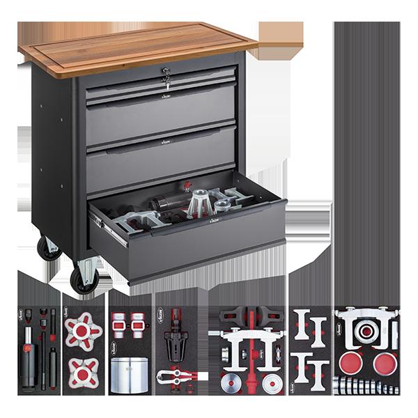 Abbildung: Beispiel Mobile Werkbank mit Spezialwerkzeug-Sortiment Transporter