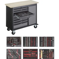 Mobile work bench Series L with assortment