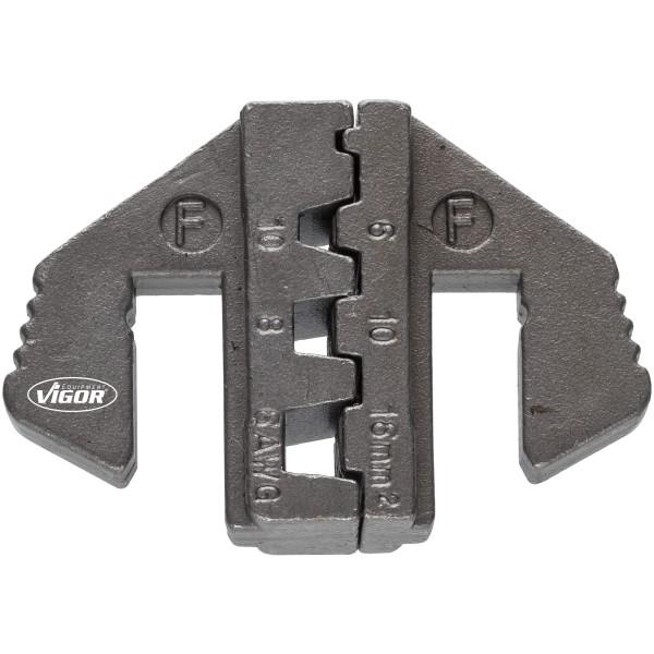 Crimp-Einsatz F: für Aderendhülsen über 6,0mm 2